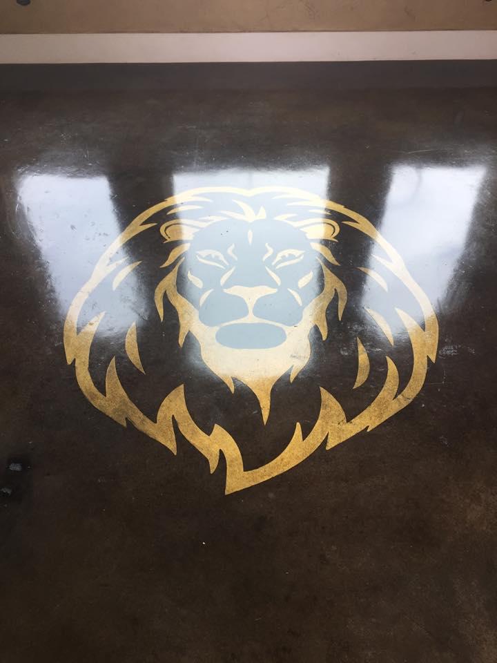 Stencil Lions Head